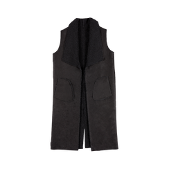 Gilet Eco-Montone Donna Nero, Saldi, 12B400701MFNERO, 001 preview