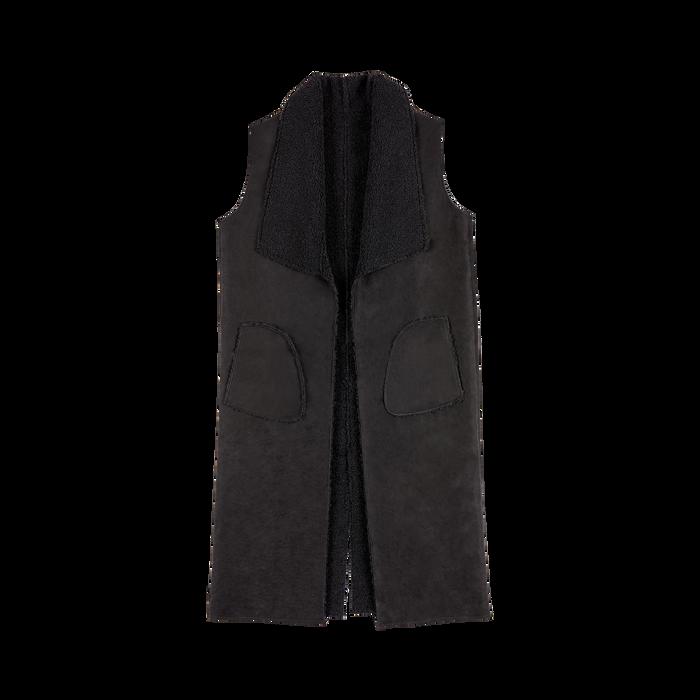 Gilet Eco-Montone Donna Nero, Abbigliamento, 12B400701MFNERO