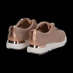 Sneakers rosa in tessuto glitter, Scarpe, 133020229GLROSA036, 004 preview