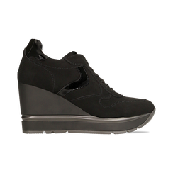 Sneakers nere zeppa platform, Scarpe, 122808661MFNERO, 001 preview