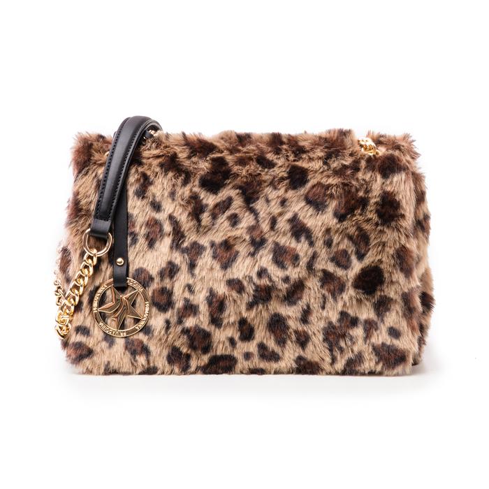 Borsa leopard in eco-fur, Borse, 141918834FULEMAUNI