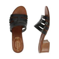 Sandali neri in pelle di vacchetta, tacco 4,5 cm , Primadonna, 177248215VANERO036, 003 preview