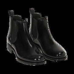 Stivali per la pioggia neri in pvc, Stivaletti, 148815144PVNERO036, 002 preview