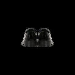 Francesine stringate vernice nera, tacco basso, Scarpe, 122808656VENERO, 003 preview