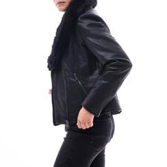 Giacca nera in eco-pelle, Abbigliamento, 146518259EPNERO3XL, 001a