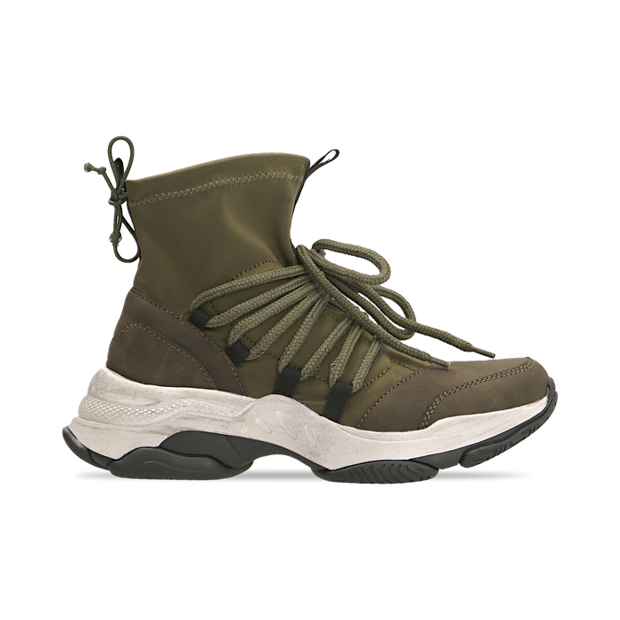 Sneakers verdi dad shoes a calza in lycra, Scarpe, 124108060LYVERD