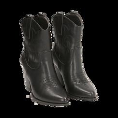 Camperos neri, tacco 8,5 cm , Scarpe, 170581020EPNERO035, 002 preview