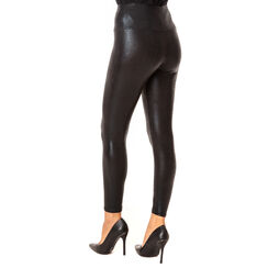 Leggings neri in tessuto stampa vipera, Primadonna, 18B400301EVNEROUNI, 002a