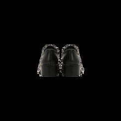 Francesine stringate nere con mini-borchie, Scarpe, 129309815EPNERO, 003 preview
