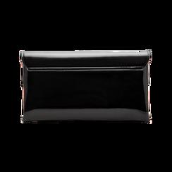 Pochette bustina nera in ecopelle vernice, Primadonna, 123308136VENEROUNI, 002 preview