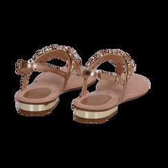 Sandali gioiello infradito nude in microfibra, Primadonna, 134994221MFNUDE, 004 preview