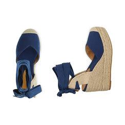 Espardeñas azules en lona@ plataforma 9 cm , Primadonna, 174824291CABLUE036, 003 preview