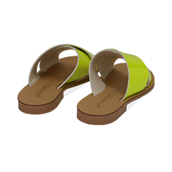 Mules flat gialle in vernice fluo, Primadonna, 136767002VEGIAL036, 004 preview