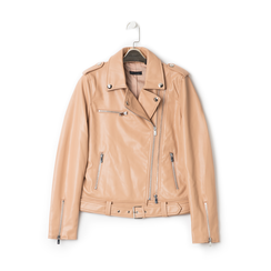 Biker jacket nude in eco-pelle, Primadonna, 136500779EPNUDEL, 001 preview