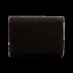 Pochette nera scamosciata con pon-pon, Saldi Borse, 123369415MFNEROUNI, 002 preview