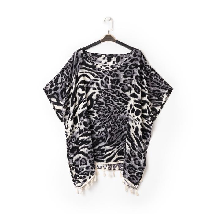 Poncho leopard in tessuto , Abbigliamento, 13B445069TSLEOPUNI