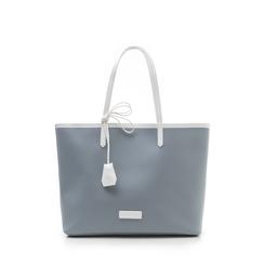 Maxi bag bianco/grigia in eco-pelle, Saldi Estivi, 133764106EPBIGRUNI, 001a