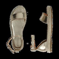 Sandali oro laminato, Scarpe, 154913061LMOROG, 003 preview