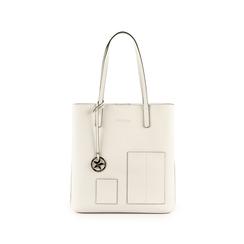 Shopper bianca in eco-pelle, Primadonna, 153782784EPBIANUNI, 001 preview