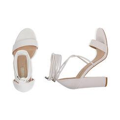 Sandali lace-up bianchi, tacco 10,5 cm , Primadonna, 172760851EPBIAN036, 003 preview