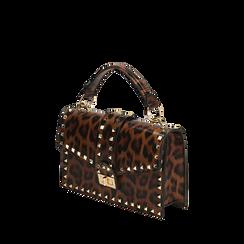 Sac à main clouté léopard, Primadonna, 165122990EPLEMAUNI, 002a