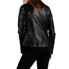 Chaqueta biker en eco-piel color negro, Primadonna, 156501203EPNERO3XL, 002 preview