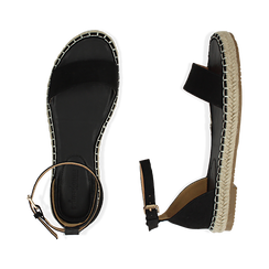 WOMEN SHOES ESPADRILLAS MICROFIBER NERO, Chaussures, 154913061MFNERO038, 003 preview