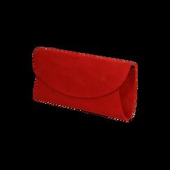 Pochette rossa in microfibra , Borse, 165122502MFROSSUNI, 002 preview