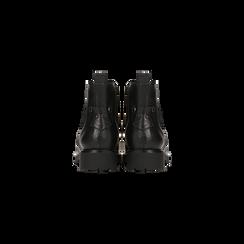 Chelsea Boots neri con lavorazione Duilio, Scarpe, 120800205EPNERO, 003 preview