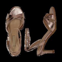Sandali rosa in laminato, tacco 7 cm, Primadonna, 134819206LMROSA036, 003 preview