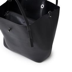Maxi-bag nera in eco-pelle, Borse, 145786775EPNEROUNI, 004 preview