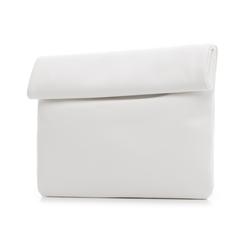Bustina bianca in eco-pelle, ripiegata su sè stessa, Borse, 113308590EPBIANUNI, 004 preview