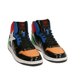 Sneakers in vernice multicolor, Primadonna, 182621186VEMULT035, 002a