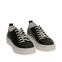 Baskets noires, CHAUSSURES, 172822110EPNERO035, 002a
