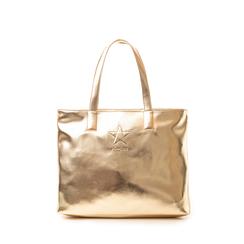 Maxi bag oro in laminato , Saldi Estivi, 133764104LMOROGUNI, 001a