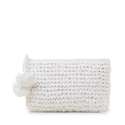 Pochette mare bianca in paglia intrecciata, Saldi Estivi, 134504239PGBIANUNI, 001a