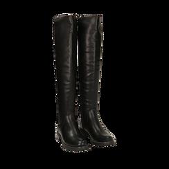 Botas mosqueteras negro stretch, Primadonna, 160691310EPNERO036, 002a