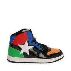Sneakers in vernice multicolor, Primadonna, 182621186VEMULT035, 001a