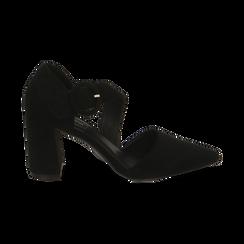 Décolleté noir en microfibre, talon 8 cm , Primadonna, 164949241MFNERO035, 001 preview