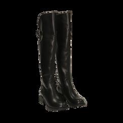 Stivali overknee neri, tacco 4 cm , Primadonna, 160621687EPNERO035, 002 preview