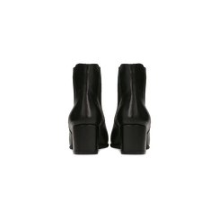 Chelsea Boots neri in vera pelle, tacco quadrato medio 5,5 cm, Primadonna, 127722102PENERO, 003 preview
