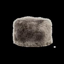 Colbacco  grigio in eco-pelliccia, Saldi Abbigliamento, 12B413001FUGRIGXXL, 001 preview