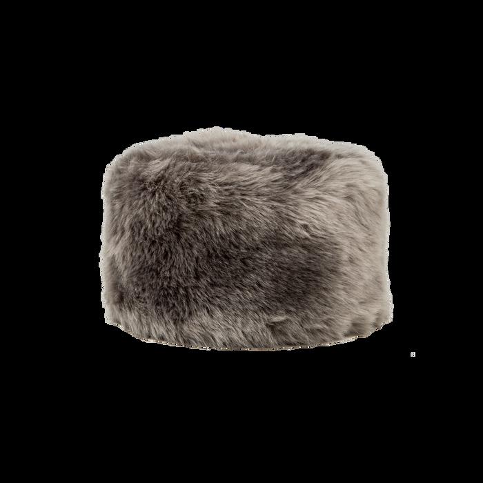 Colbacco  grigio in eco-pelliccia, Saldi Abbigliamento, 12B413001FUGRIGXXL