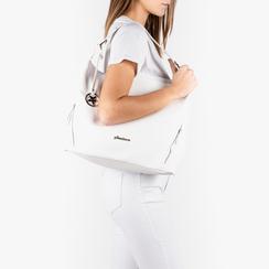 Maxi-bag de ecopiel en color blanco, Bolsos, 153783218EPBIANUNI, 002a