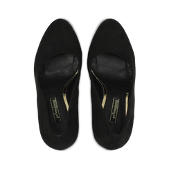 Décolleté nere scamosciate con plateau, tacco 13,5 cm, Primadonna, 122103011MFNERO038, 004 preview