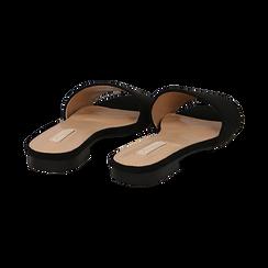 Mules flat nere in microfibra, Primadonna, 132708189MFNERO, 004 preview