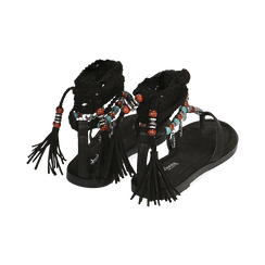 Sandali infradito lace-up neri, Scarpe, 153683578EPNERO, 004 preview
