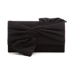 Pochette nera in microfibra con fiocco, Borse, 132300508MFNEROUNI, 001 preview