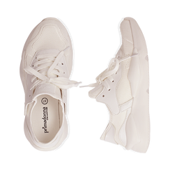Dad shoes en tejido tecnico color blanco, Zapatos, 15F609059TSBIAN035, 003 preview