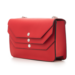 Tracollina piccola rossa in eco-pelle con chiusura tripla, Borse, 132300507EPROSSUNI, 004 preview